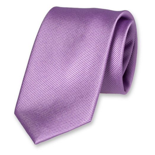 Cravate XL Lilas - Soie (1)