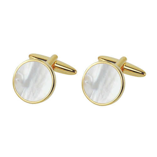 Boutons de manchette - Gold Mother of Pearl (1)