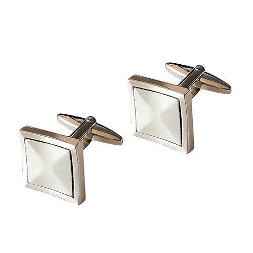 Boutons de Manchette - Brushed Square (1)