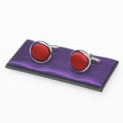 boutons de manchette rouge tomate