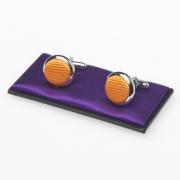 Boutons de manchette orange