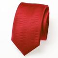 cravate slim rouge tomate