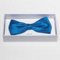 Noeud papillon bleu vive - 100% soie