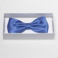 Noeud papillon bleu - 100% soie