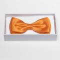 Noeud papillon orange - 100% soie